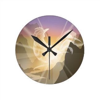 Harbinger of Light - Sunrise Rooster Wallclock