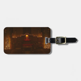 Harbison Chapel at Christmas Grove City College Luggage Tag