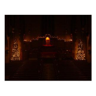 Harbison Chapel at Christmas Grove City College Postcard