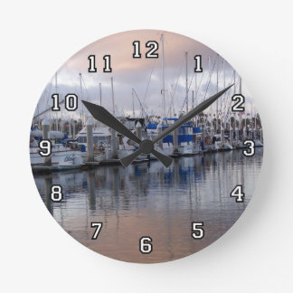 Harbor at San Pedro Wall Clock