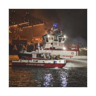 Harbor Fire Canvas Print