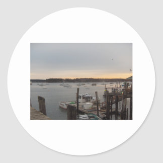 Harbor (Friendship, Maine) Classic Round Sticker