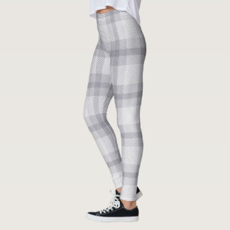 Harbor Mist Grey Woven Plaid Leggings