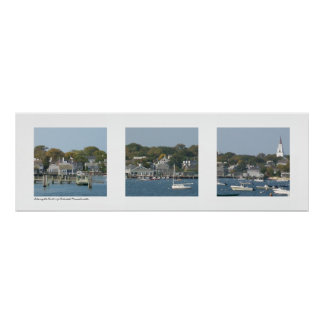 Harbor of Nantucket, Massachusetts Triptych Poster