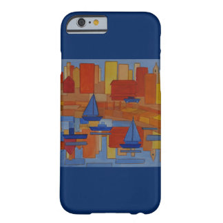 Harbor Painting bright colourful cubism Barely There iPhone 6 Case