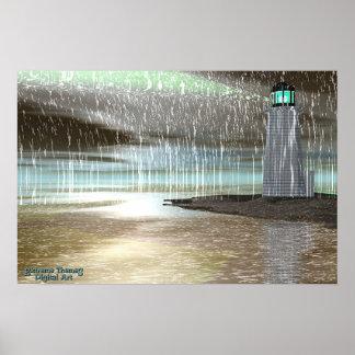 Harbor Rain Poster