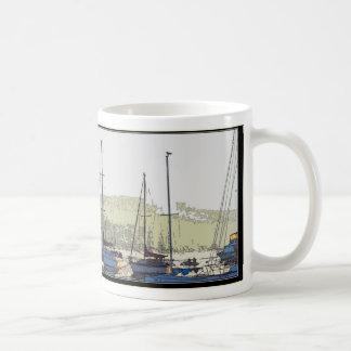 Harbor Sailboats Art Mug