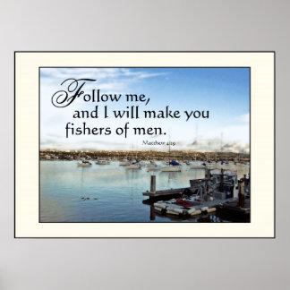 Harbor Sailboats Fishers of Men Print