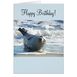 Harbor Seal Birthday Card