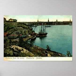 Harbor, Stockholm, Sweden Vintage Poster