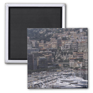 Harbor, vertical view, Monte Carlo, French Magnet