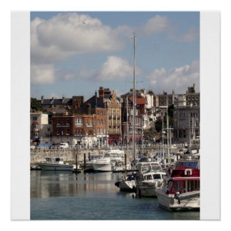 Harbour And Boats Photo Perfect Poster