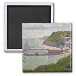 Harbour at Port-en-Bessin at High Tide, 1888 Magnet