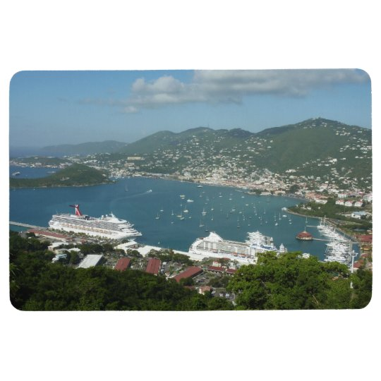 Harbour at St. Thomas US Virgin Islands Floor Mat