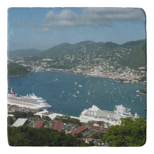 Harbour at St. Thomas US Virgin Islands Trivet