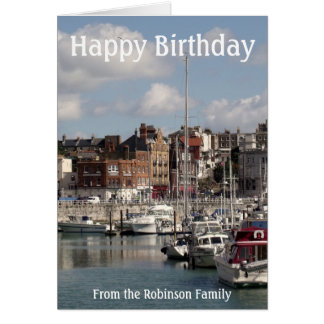Harbour Boats Happy Birthday Card from Family