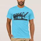 Harbour Cranes Turquoise T-Shirt
