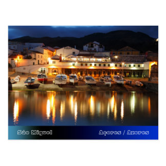 Harbour in the Azores Postcard