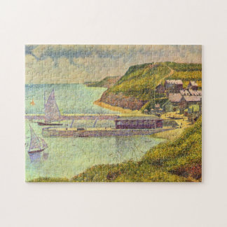 Harbour Port-en-Bessin High Tide by Georges Seurat Jigsaw Puzzle