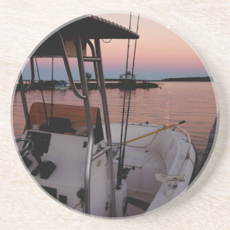 Harbour Sunset, St Joseph Island Beverage Coaster