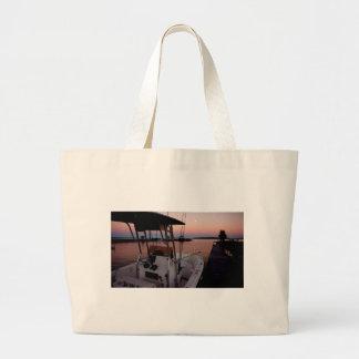 Harbour Sunset, St Joseph Island Large Tote Bag