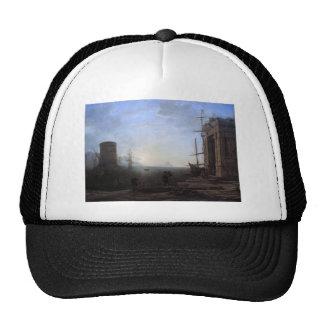Harbour view at sunrise by Claude Lorrain Trucker Hat
