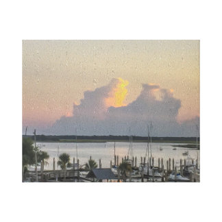 Harbour View Boats Bay and the Sunset Canvas Print