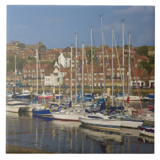Harbour, Whitby, North Yorkshire, England Tile