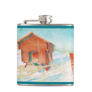 Harbre i Vintersol Hip Flask