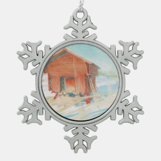 Harbre i Vintersol Snowflake Pewter Christmas Ornament