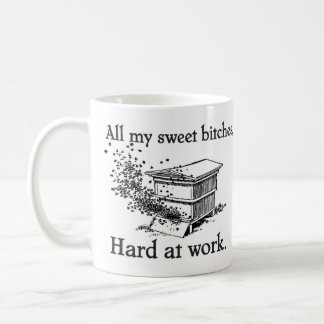 hard at work coffee mug