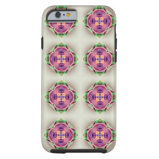 Hard Candy Pink Lavender Flower and Green Tough iPhone 6 Case