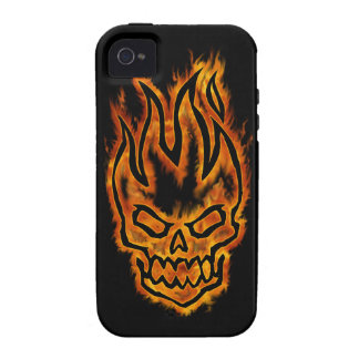 Hard Core Flaming Skull Case-Mate iPhone 4 Case
