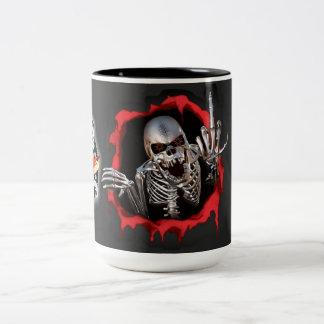 Hard Core Machinist skull Coffee Cup