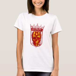 Hard core Spanish futbol fans skull shield gifts T-Shirt