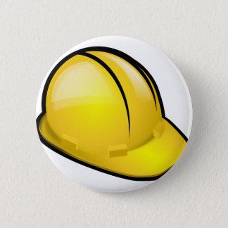 Hard Hat 2 Inch Round Button