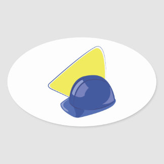 Hard Hat Oval Sticker