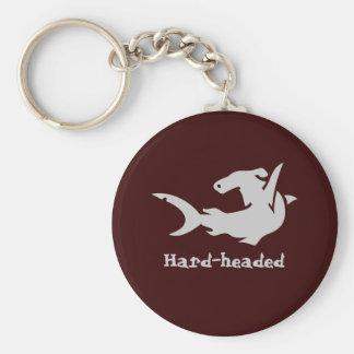 Hard-headed Basic Round Button Keychain
