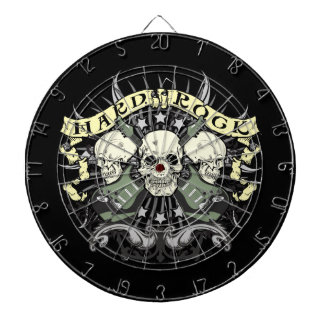 Hard Rock and Roll Skulls Guitars Dartboard