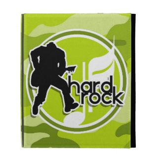 Hard Rock bright green camo camouflage iPad Folio Cases