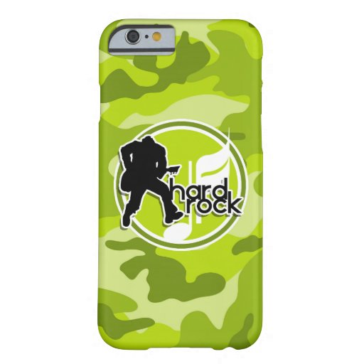 Hard Rock; bright green camo, camouflage iPhone 6 Case