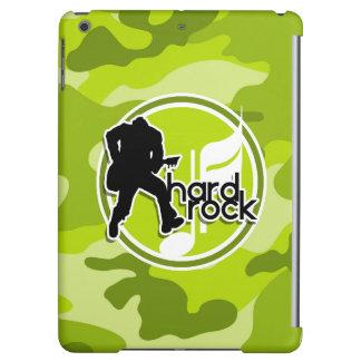 Hard Rock bright green camo camouflage iPad Air Covers