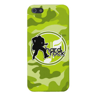 Hard Rock; bright green camo, camouflage Case For iPhone 5