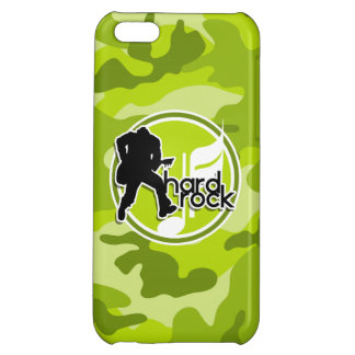Hard Rock; bright green camo, camouflage Cover For iPhone 5C