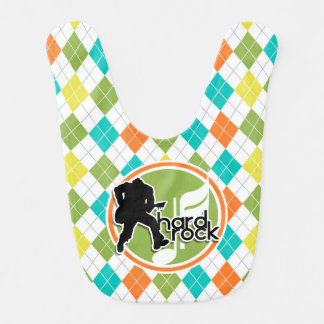 Hard Rock; Colorful Argyle Pattern Bib