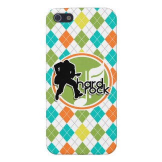 Hard Rock; Colorful Argyle Pattern Cover For iPhone 5