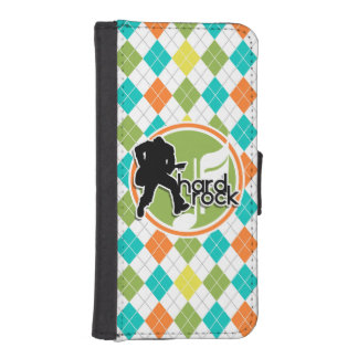 Hard Rock; Colorful Argyle Pattern iPhone 5 Wallet Cases