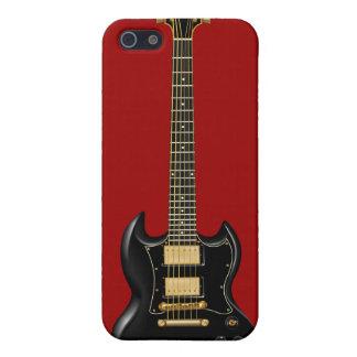 Hard Rock Electric Guitars (black) iPhone 5 Case