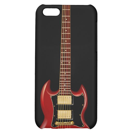 Hard Rock Electric Guitars (red) iPhone 5C Covers