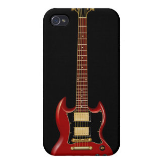 Hard Rock Electric Guitars red Case For iPhone 4